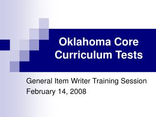 Oklahoma Core Curriculum Tests