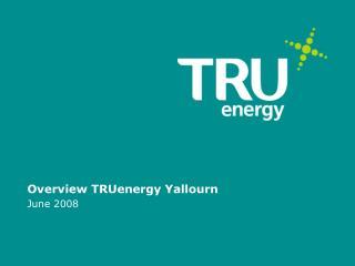 Overview TRUenergy Yallourn