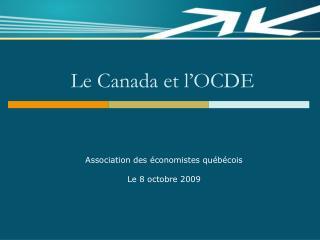 Le Canada et l'OCDE
