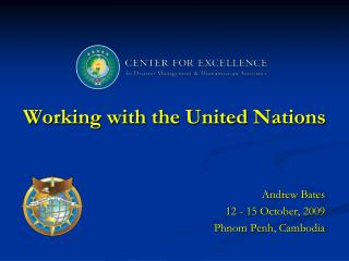 Working with the United Nations