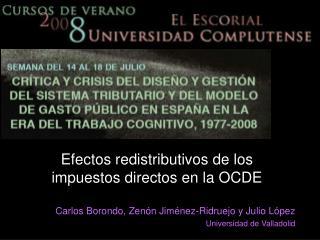 Efectos redistributivos de los impuestos directos en la OCDE