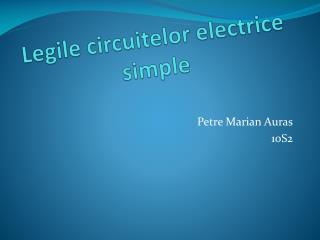 Legile circuitelor electrice  simple