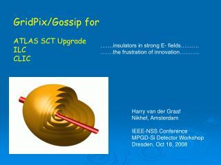 GridPix/Gossip for ATLAS SCT Upgrade ILC CLIC