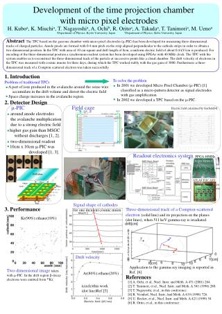 Development of the time projection chamber              with micro pixel electrodes