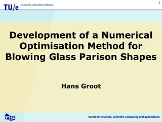 Development of a Numerical Optimisation Method for Blowing Glass Parison Shapes