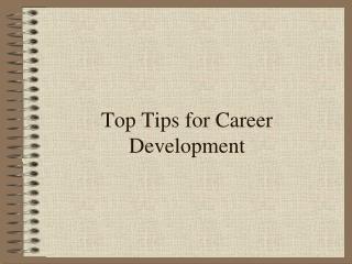 Top Tips for Career Development