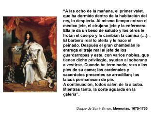 Duque de Saint-Simon,  Memorias, 1675-1755