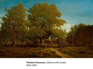 Théodore  Rousseau ,  Fattoria nelle  Landes , 1844–1867,