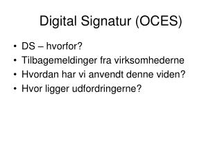 Digital Signatur (OCES)