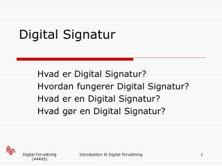 Digital Signatur