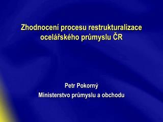 Zhodnocení procesu restrukturalizace ocelářského průmyslu ČR