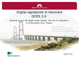 Digital signatures in Denmark OCES 2.0