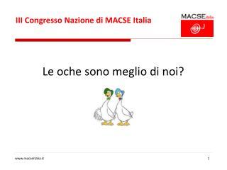 III Congresso Nazione di MACSE Italia