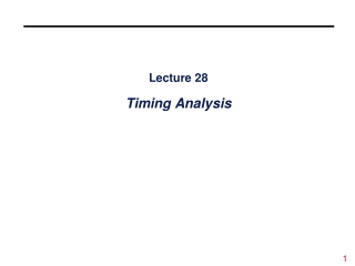 Lecture 7 Combinational Components II