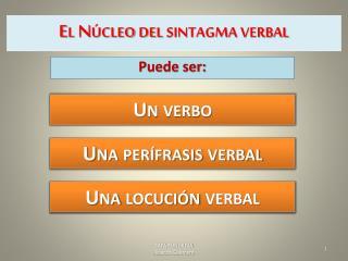 El Núcleo del sintagma verbal