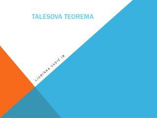 Talesova teorema