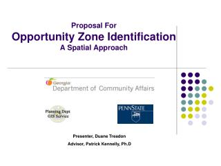 Proposal For Opportunity Zone Identification A Spatial Approach