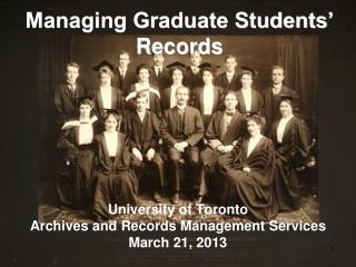 Managing Graduate Students' Records