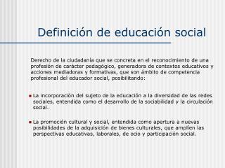 Definición de educación social