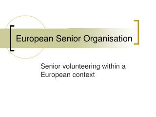 European Senior Organisation