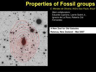 Properties of Fossil groups    C. Mendes de Oliveira, IAG/U.Sao Paulo, Brazil