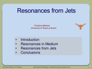 Resonances from Jets