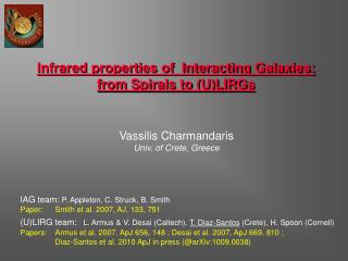 Infrared properties of  Interacting Galaxies:  from Spirals to (U)LIRGs
