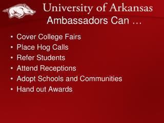 Ambassadors Can