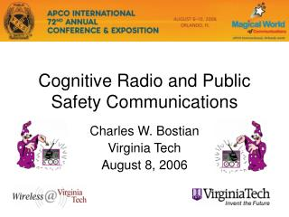 Cognitive Radio and Public Safety Communications