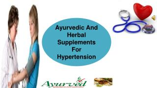 Ayurvedic And Herbal Supplements For Hypertension