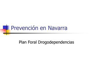Prevención en Navarra