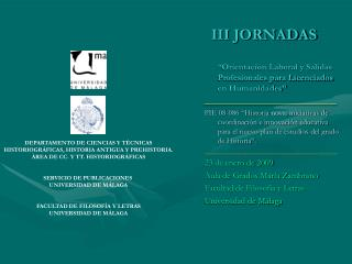 III JORNADAS