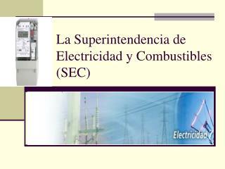 La Superintendencia de Electricidad y Combustibles (SEC)