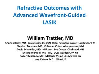Refractive Outcomes with Advanced Wavefront-Guided LASIK