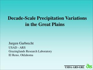 Decade-Scale Precipitation Variations