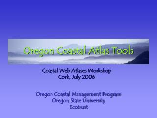 Oregon Coastal Atlas Tools