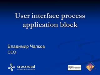 User interface process application block