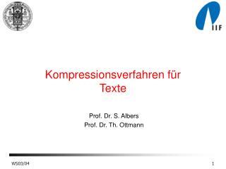 Kompressionsverfahren für Texte