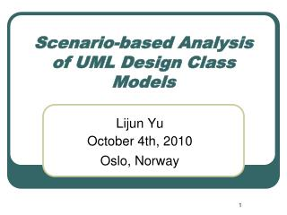 Scenario-based Analysis of UML Design Class Models