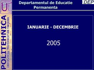 Departamentul de Educatie Permanenta