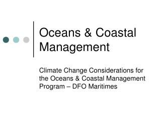 Oceans & Coastal Management