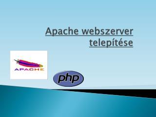 Apache webszerver  telepítése