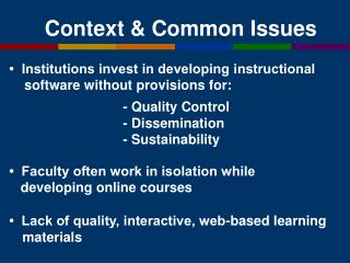 Context & Common Issues