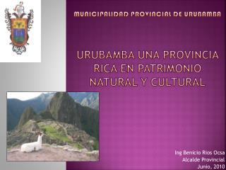 Municipalidad PROVINCIAL DE URUBAMBA