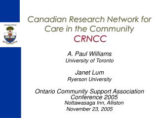 Canadian Research Network for Care in the Community CRNCC