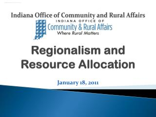 Regionalism and  Resource Allocation