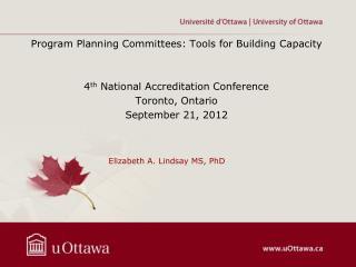 Elizabeth A. Lindsay MS, PhD