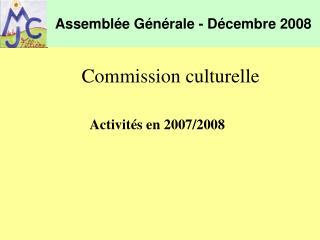 Assemblée Générale - Décembre 2008
