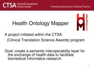 Health Ontology Mapper