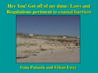 Hey You! Get off of my dune: Laws and Regulations pertinent to coastal barriers